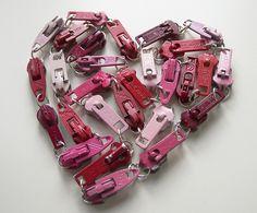 heart zippers