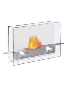 Anywhere Fireplace - Metropolitan 14 in. Vent-Free Ethanol Fireplace in Stainless Steel Finish/Tempered Glass - 100 percent clean burning, safe for indoor use. Needs no chimney, no gas or electric connection. Tabletop Fireplaces, Indoor Outdoor Fireplaces, Fireplace Outdoor, Gel Fireplace, Bioethanol Fireplace, Fireplace Modern, Best White Elephant Gifts, Ethanol Fuel, Glass Panels