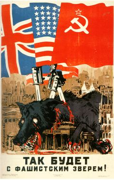 Russian Ww2 Propaganda Posters 1000+ images about Sov...