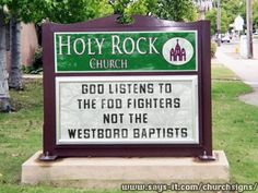 YES! It was awesome the Foo Fighters counter-protested the WBC here in Kansas City.