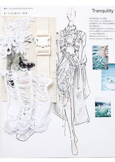 A Level Textiles: Beautiful Sketchbook Pages Mise En Page Portfolio Mode, Mode Portfolio Layout, Fashion Portfolio Layout, Portfolio Design, Portfolio Ideas, Fashion Sketchbook, Fashion Illustration Sketches, Illustration Mode, Fashion Sketches