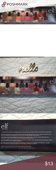 Elf Nail Polish Set 10 nail polishes. Shimmer or Shine. There are 2 sets of colora you can choose from. Price is only for one set. ELF Other
