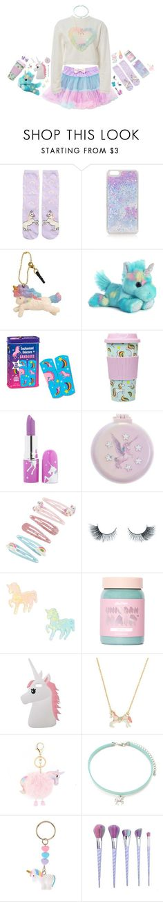 """unicorn princess"" by sookii ❤ liked on Polyvore featuring New Look, Topshop, Lime Crime, Monsoon, Accessorize, Unicorn Lashes, claire's, Miss Selfridge, Kate Spade and Forever 21"