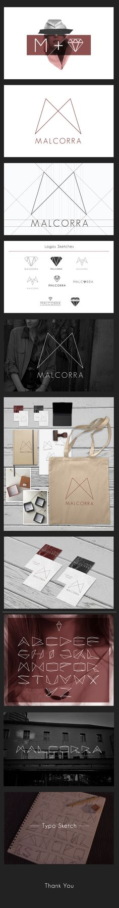 Yonathan Tanu, Spain – Malcorra, identity for independent jewlery designer Cris Malcorra