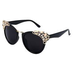 New 2016 Women Luxury Brand Sunglasses Jewelry Flower Rhinestone Decoration Sunglasses Vintage Shades Eyewear