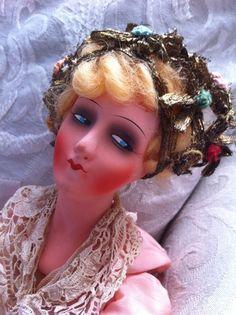 Pretty German boudoir doll head