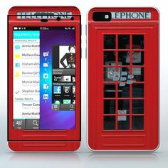 England Phone booth  Red street phone  phone skin sticker for Cell Phones / Blackberry Z10   $7.95