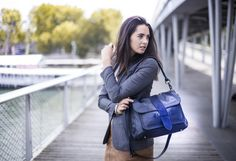 Stella by Léa Toni - Blue - Leather bag made in Italy