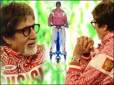 Amitabh Bachchan rides Trikke gifted by KBC contestant