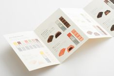 """Packaging for Mme KIKI Chocolat by UMA / Design Farm """"Graphic identity, logo design and packaging design for Mme KIKI Chocolat. Photography by Yoshiro Masuda."""" UMA / Design Farm is a design studio founded in 2007 by Yuma Harada. They work across a. Love Design, Layout Design, Food Graphic Design, Blog Design Inspiration, Leaflet Design, Japanese Typography, Japan Design, Print Layout, Brochure Design"""