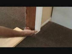Installing A Laminate Floor: Marking To Undercut A Door Jamb U0026 Door Casing  Trim