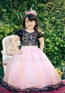 vestido minnie rosa e preto luxo