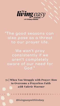 A prayerless faith is an empty faith. On today's episode, author Valerie Woerner and I discuss PRAYER. Do you get distracted when you're praying? Is our entire generation too distracted to pray? I think it is a bigger issue than we think. Do you feel like, deep down, it's more of a last resort than a first priority? Things To Think About, Good Things, Best Seasons, On Today, Do You Feel, Spiritual Life, Priorities, Prayers, Faith