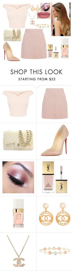 """""""Hidden Princess"""" by girlygirlprincess ❤ liked on Polyvore featuring Topshop, Chanel, Christian Louboutin, Too Faced Cosmetics, Yves Saint Laurent, Sephora Collection and Ippolita"""