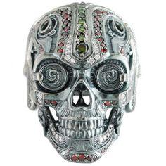 Steampunk Skull Ring