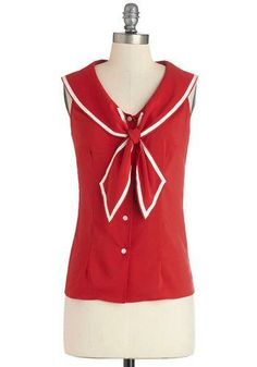 Sail Through My Dreams Top in Red #bettiepage