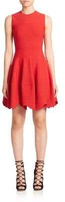 Alexander McQueen San Gallo Knit Fit-&-Flare Dress