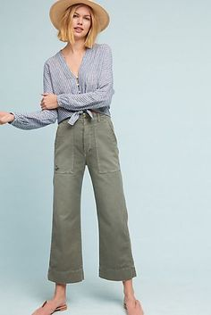 Utility Cropped Wide Legs