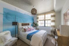 The Bungalow Guest Room by Jen Going - Holiday House Hamptons 2014 - Lonny
