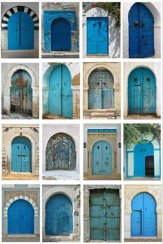 Blue. BLue. BLUe. BLUE! Lots of BLUE Doors.  lol