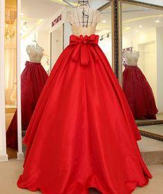 77b044130a0 Sweetheart wine red satin high waist strapless ball gown