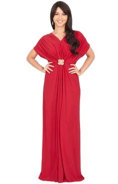 Review Dresses : Koh Koh Women's V-neck Short Sleeve  Ruched Waist Long Gown Maxi Dress http://www.topnewsfashion.com/2016/05/Dresses_93.html