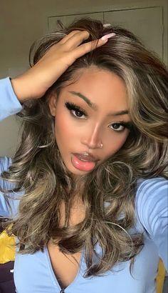 Baddie Hairstyles, Braided Hairstyles, Black Girls Hairstyles, Hair Inspo, Hair Inspiration, Prinz Von Bel Air, Curly Hair Styles, Natural Hair Styles, Dyed Natural Hair