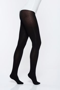 Black 250 den women`s tights with 3d effect not reinforced toe, 250 den, soft flat seam, 3D effect, not reinforced toe