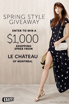 I entered for my chance #win a $1,000 shopping spree to @LeChateauStyle from @Ebates! #giveaway