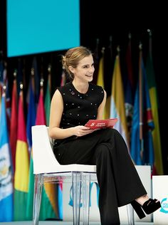 Emma Watson at the One Young World Gender Equality Special Session (09/29/16)