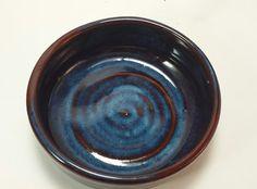 Blue & Red Pottery Wine Bottle Coaster by SoulShinePottery on Etsy