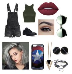 """""""Grunge"""" by flutasticallycheyenne ❤ liked on Polyvore featuring Topshop, Converse, Lime Crime, Revo, Chicnova Fashion and grunge"""