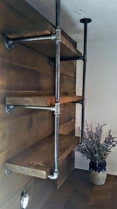 Farmhouse Kitchen Shelves, Rustic Wall Shelves, Pipe Shelves, Floating Shelves - # KitchenBest Picture For home decoration diy For Your TasteYou are looking f Rustic Wall Shelves, Industrial Floating Shelves, Floating Shelf Decor, Floating Shelves Kitchen, Rustic Walls, Glass Shelves, Bar Shelves, Open Shelves, Floating Cabinets
