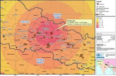 Erdbeben Nepal - Karte  UNICEF Deutschland ruft dringend zu Spenden für die Opfer des schweren Erdbebens in Nepal auf!