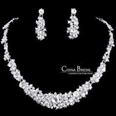 Crystal Necklace Sets, Rhinestone Wedding Accessory Bridal JewelryEarrings christmas gift necklace women jewelry brand jewellery-in Jewelry Sets from Jewelry on Aliexpress.com | Alibaba Group