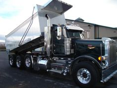 Bucket List - back up a dump truck and dump the load! Peterbilt Dump Trucks, Mack Dump Truck, Peterbilt 379, Big Rig Trucks, Lifted Trucks, Cool Trucks, Semi Trucks, Custom Big Rigs, Custom Trucks