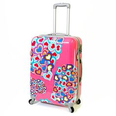 Karabar Super Lightweight Hard Sided Suitcases - 3 Years Warranty! (30 Inch, Pink Hearts) Karabar http://www.amazon.co.uk/dp/B00LRWBLIU/ref=cm_sw_r_pi_dp_JJESvb0NW4KQA