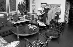 Archive image Svenskt Tenn founder Estrid Ericson with friend and colleage, architect and designer Josef Frank