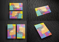 25 templates para tarjetas personales y de negocios Flavor Business Card Free Mock-up Template