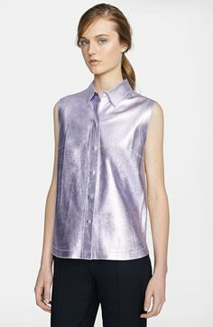 3.1 Phillip Lim Metallic Leather Shirt available at #Nordstrom