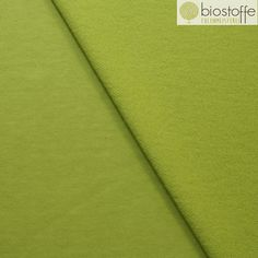 """Bio-Stoffe - BIRCH Bio Sweatshirt Fleece Uni """"Grass"""" - ein Designerstück von Eulenmeisterei-Biostoffe bei DaWanda"""