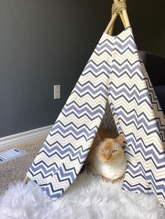 How To Make A Cat Teepee | Budget Savvy Diva  #NutrushCatCrafts #ad @NutrishForPets
