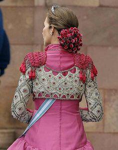 La Infanta Elena wearing a gorgeous chaquetilla de torero