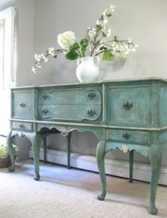 If you're looking for something antique and beautiful, this hand-painted French cabinet will be your best bet. Based on eight legs and featuring six drawers, it provides plenty of space and stability.
