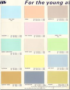 50 Fun Mid-Century Pastel Paint Colors from Jewel Paint & Varnish Company |  HOMES TINYorRETROorRANCH | Pinterest | Pastel paint colors, Varnishes and  Mid ...