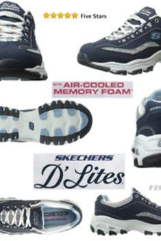Skechers #Women's #D'Lites #Memory #Foam #Lace up #Sneaker