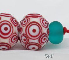 Handgemachte Murano Glas-Perlen-Sets von BuliGlassBeads auf Etsy