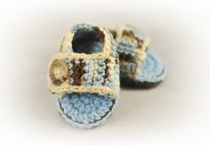 Crochet Baby Sandals by Adorably Hooked