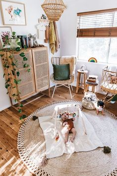 The 10 Baby Nursery Trends for 2019 you need to know, Baby Room Room boho Baby Bedroom, Baby Room Decor, Nursery Room, Kids Bedroom, Nursery Decor, Boho Nursery, Baby Rooms, Babies Nursery, Rustic Nursery