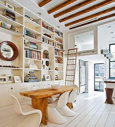 Heaven - dining room library with natural light a loft